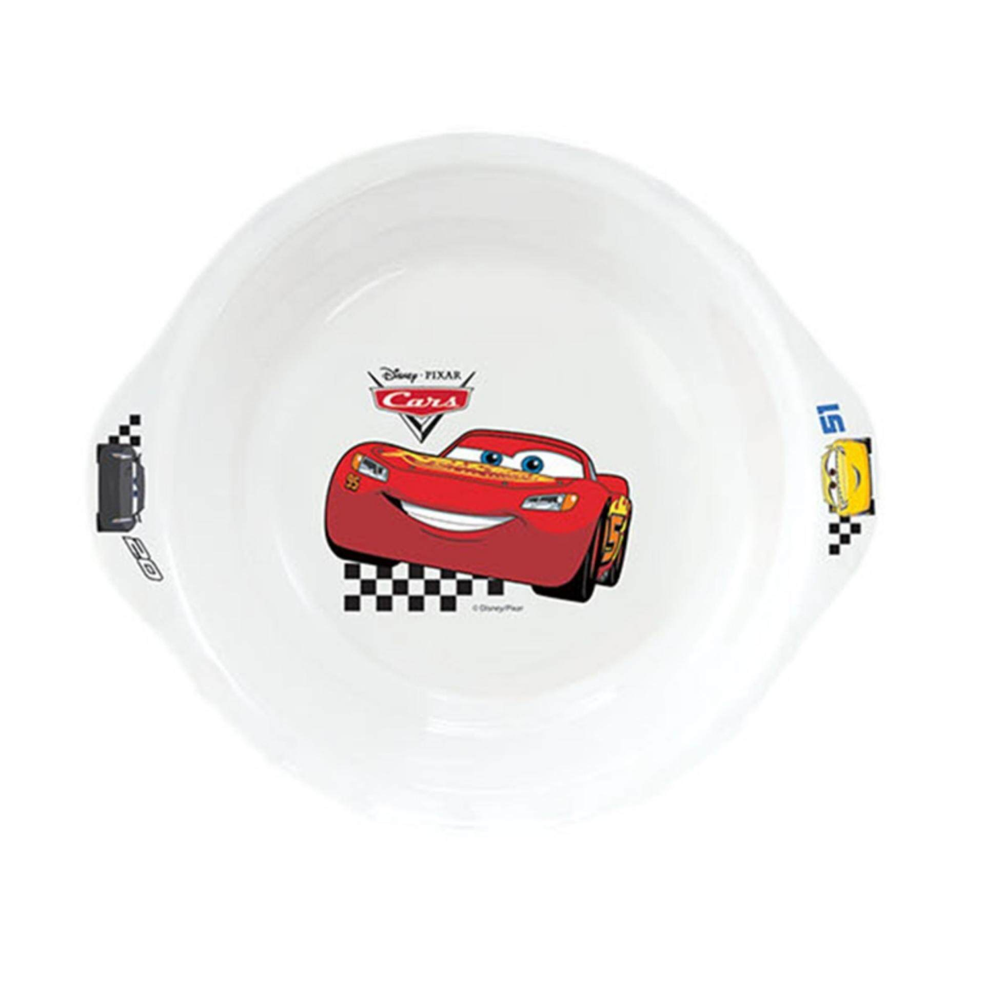 Disney Pixar Cars 3 Handle Bowl 6 Inches - White Colour