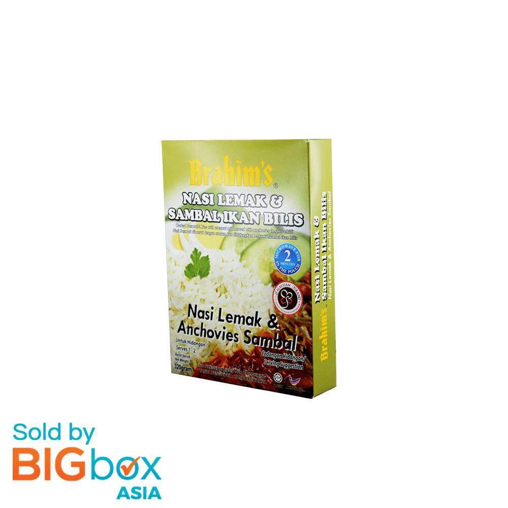 [BIGBox Asia] Brahim's Ready To Eat Nasi Lemak & Anchovies Sambal 320g