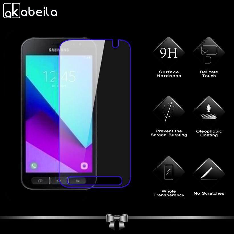 Akabeila 2 Pcs untuk Samsung Galaxy Xcover 4 Samsung Xcover 4 G390F SM-G390F 4.8 Inch Tinggi Quaity Kaca Antigores Smartphone Pelindung Layar Film