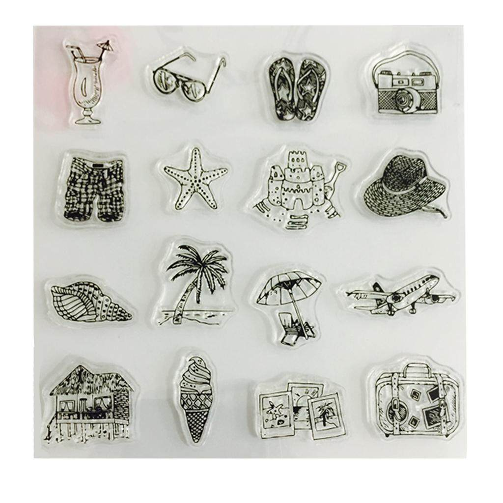 BolehDeals Holiday Accs Clear Silicone Rubber Stamp Sheet for Diary Scrapbooking Album - intl