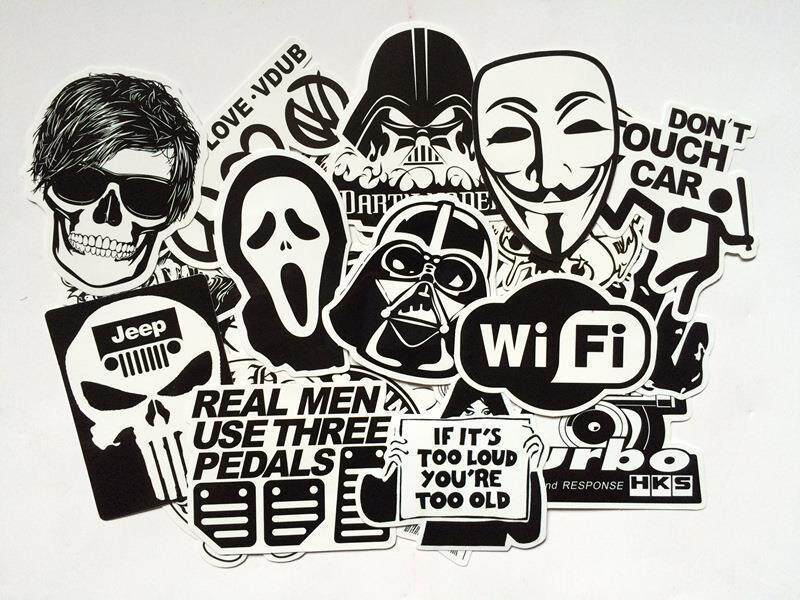 60pcs Random Stickers Skateboard Graffiti Laptop Luggage Car Decal - Intl By The First Store.