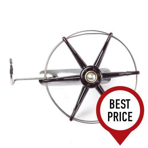 STAINLESS STEEL WIRE CAGE HAND GEAR EIGHT TRIGRAM FISHING REEL WHEEL FISH ANCHOR ACCESSORY (COLORMIX)