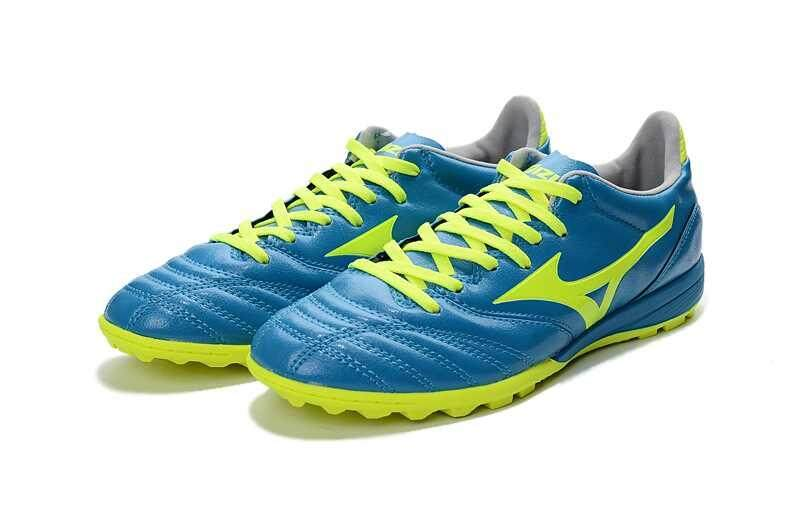 Football Mizuno Morelia Neo KL MD TF Football Shoes Men's Mizuno NEO II TF Soccer Cleats Green/Yellow - intl