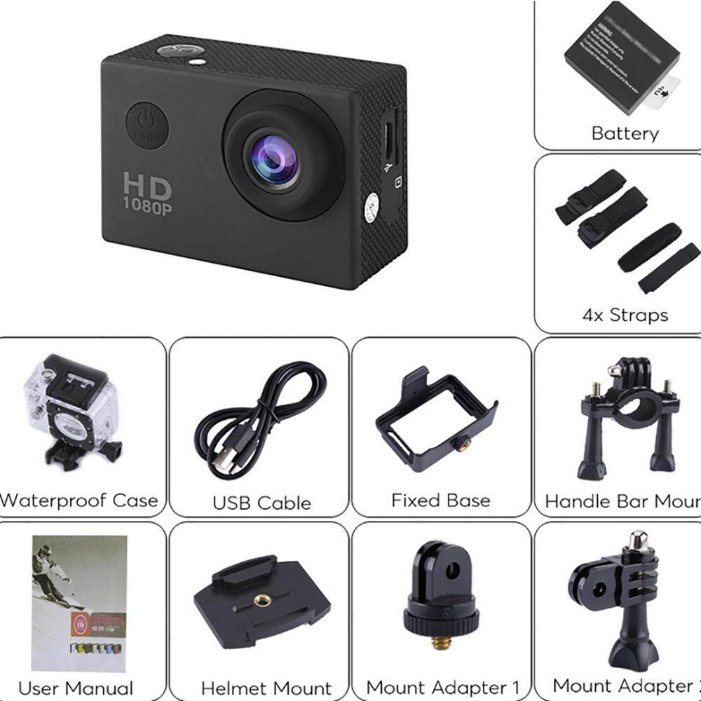 Bigskyie A8 1080P 2.0inch LCD Full HD Sport Action DV Camera Camcorder Waterproof - intl