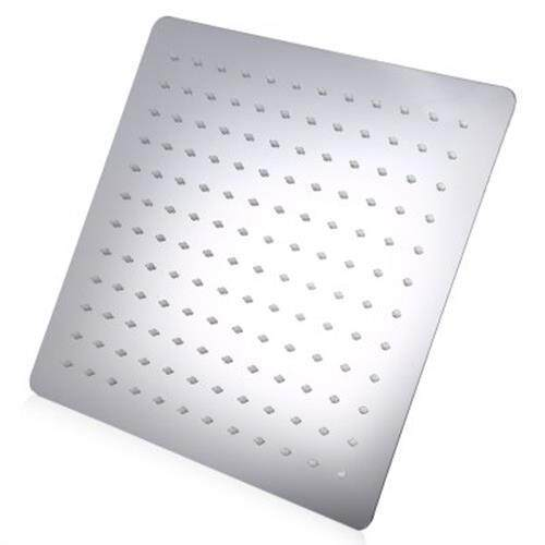 12 INCH HIGH PRESSURE ULTRA THIN 201 STAINLESS STEEL SQUARE RAIN SHOWER HEAD (SILVER)