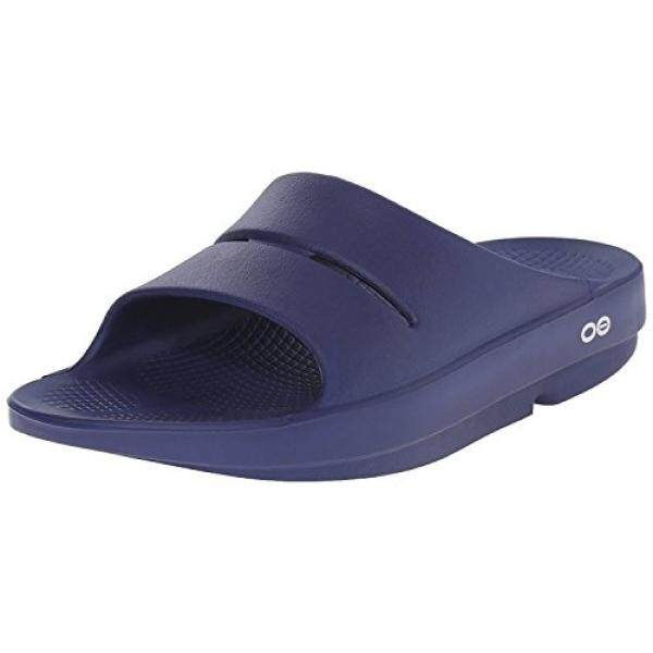 Unisex OOahh - Post Run Sports Recovery Slide Sandal - Navy - M7/W9