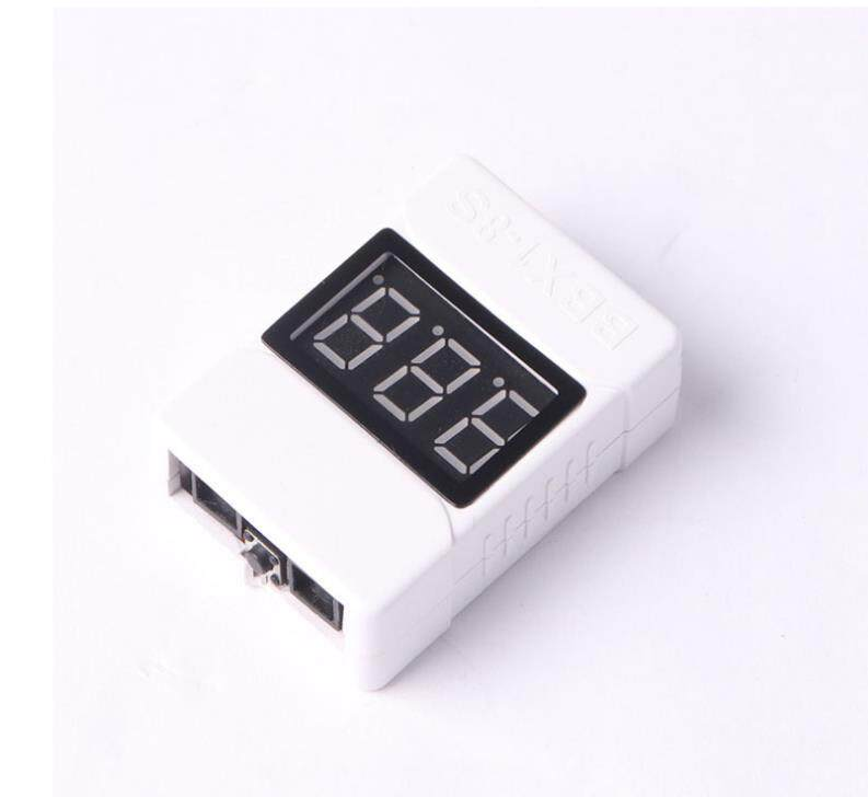 Redcolourful 1-8S Low Voltage Battery Tester Buzzer Alarm 3.6-32V LED Volt Meter Lipo Voltage Indicator Checker Prevent Reverse Connection