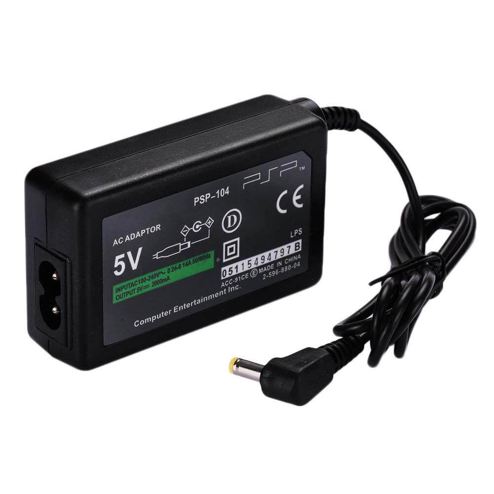 Adaptor AC Adaptor Pengisi Daya Rumah Perjalanan Kabel Steker untuk PSP 1000 2000 3000-Internasional