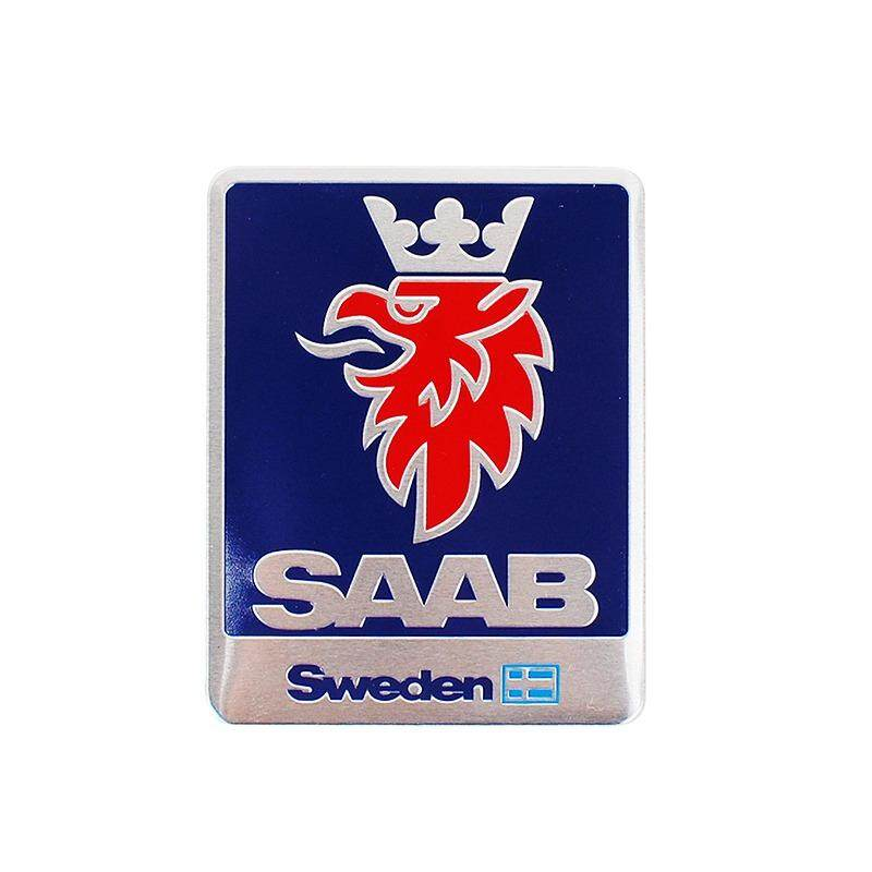 7*5.5 Cm Mobil Gaya Paduan Aluminium Emblem Lencana Stiker untuk Saab 1993 9-3 1995 9- 5 97 97X99 96 900 9000-Internasional