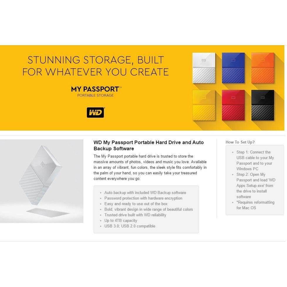 Wd My Passport External Portable 2tb Hard Disk Usb 30 Malaysia Harddisk Eksternal Elements