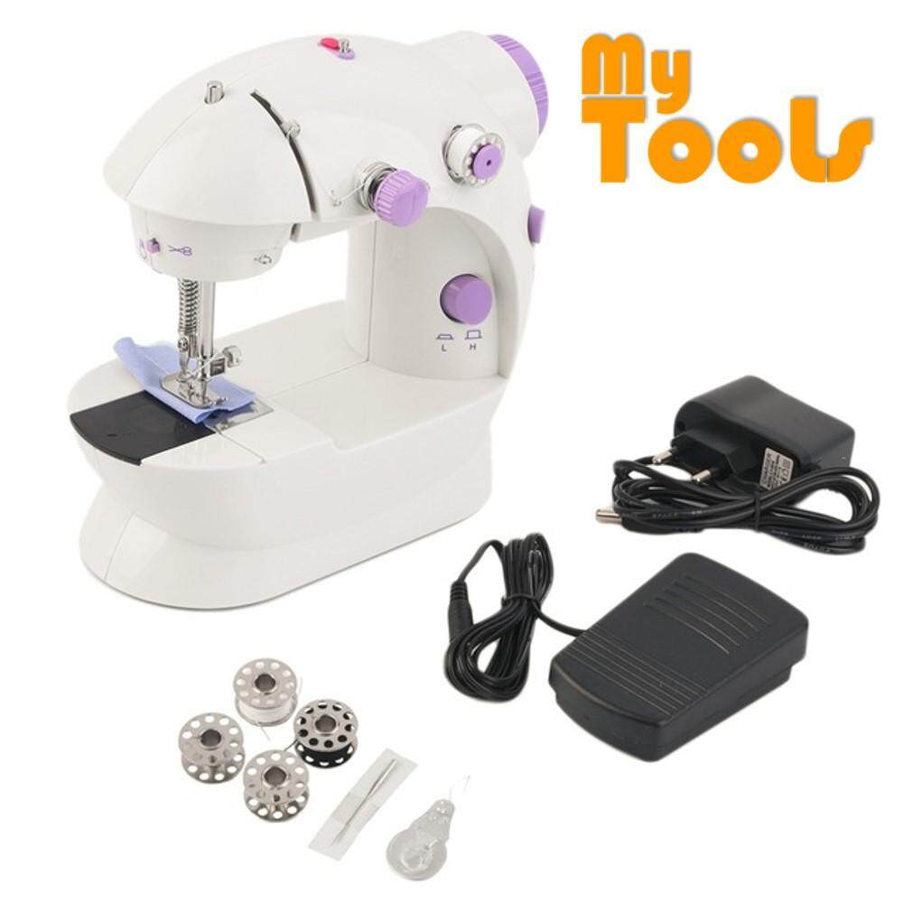 Fitur Mini Electric Portable Adaptor Pedal Sewing Machine Mesin Jahit Hand Mytools 202 With Foot Uk 2 Pin Plug