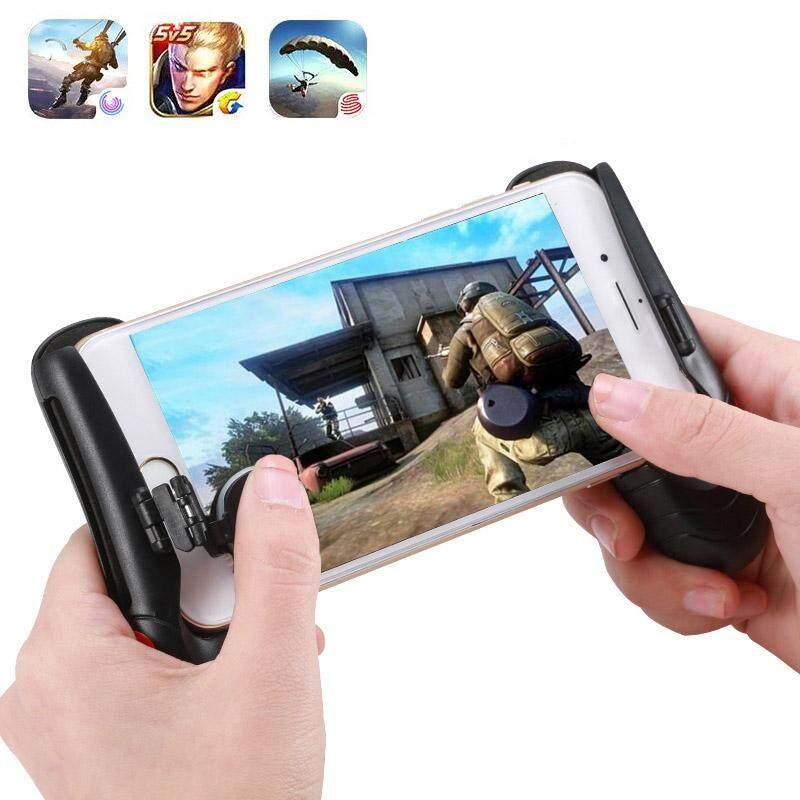 Gambar Product Lengkap YBC PUBG Gaming Trigger Controller Game Handle Grip For Rules of Survival Terbaru