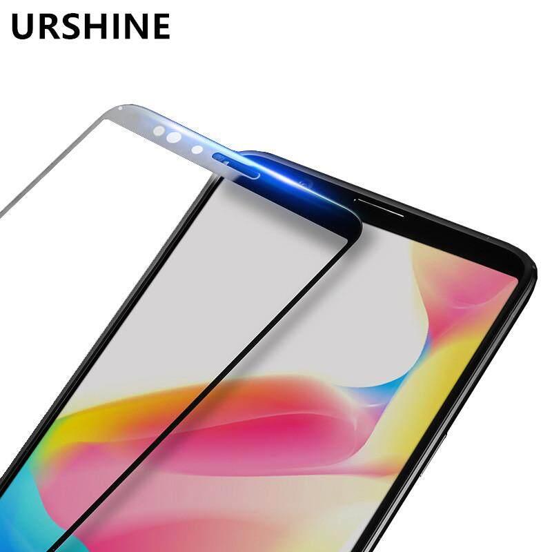 (White) URSHINE for OPPO R11s Plus Screen Protector Tempered Glass 3D Curved Edge Full