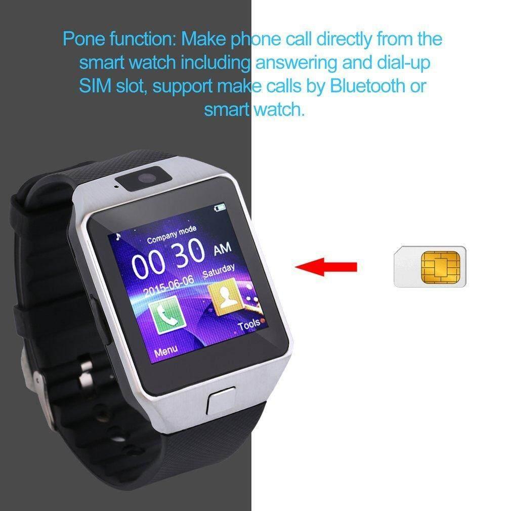 Elec DZ09 Pintar Pergelangan Tangan Jam Tangan Mini Kamera Ponsel untuk Android Handphone Sobat Modis Elegan