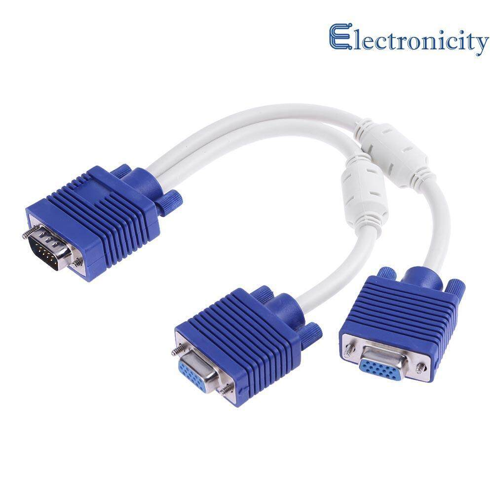 Features Dms 59 To Dual Vga Y Splitter Converter Cable Female Random Conector Originall 1pc With Double Magnet Rings Male 2pcs