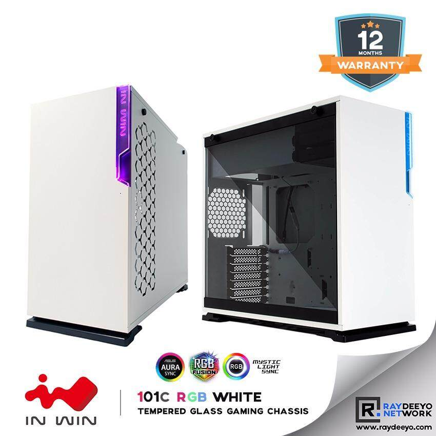 IN WIN 101C RGB (WHITE) Mid Tower Tempered Glass Gaming Chassis [ATX, Matx, Mini-ITX] Malaysia