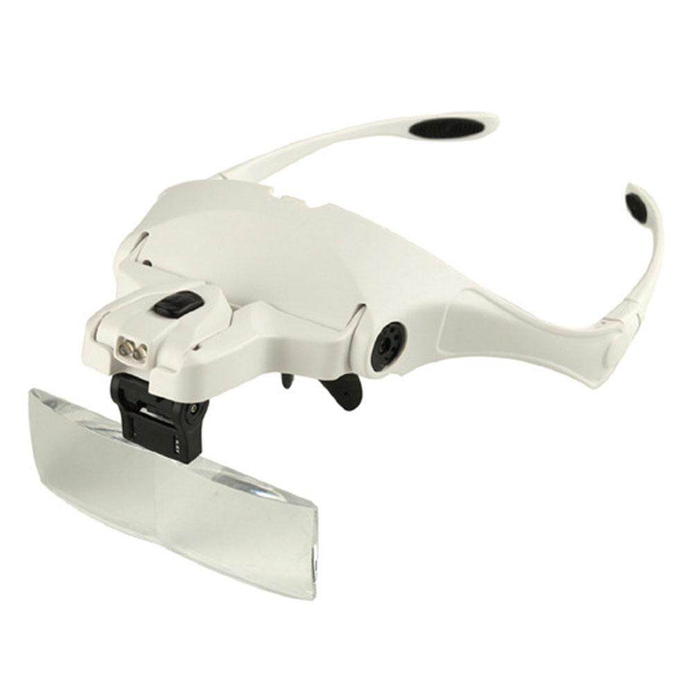 Niceeshop Headband Magnifier With Led Light, Handsfree Reading Head Mount Magnifier Glasses Light Bracket 5 Replaceable Lenses For Reading, Jewelry Loupe, Watch Electronic Repair(1.0x, 1.5x, 2.0x, 2.5x, 3.5x) By Nicee Shop.