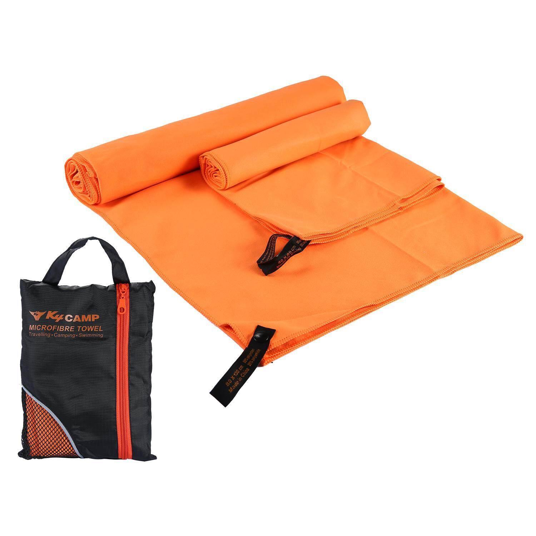 Aojbteng 2 Pcs/set Cepat Kering Serat Mikro Handuk Mandi + Handuk Kecil untuk Olahraga Gimnasium Perjalanan Berenang Kemah Pantai- internasional