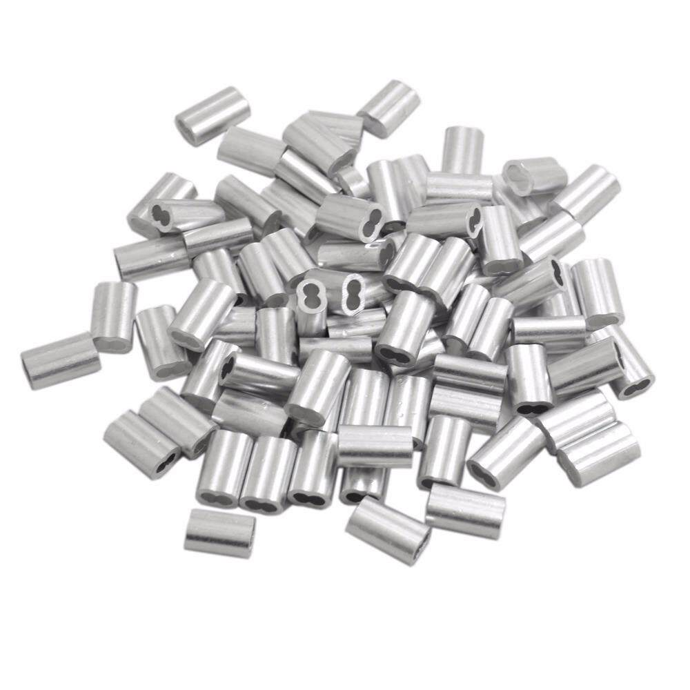 buy 100pcs aluminum crimping loop sleeve for 1  8 wire rope