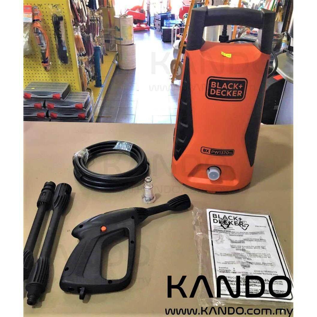 Black and Decker Pressure Washer 1300W 100 Bar PW1370TD-XD Car Wash Floor Clean