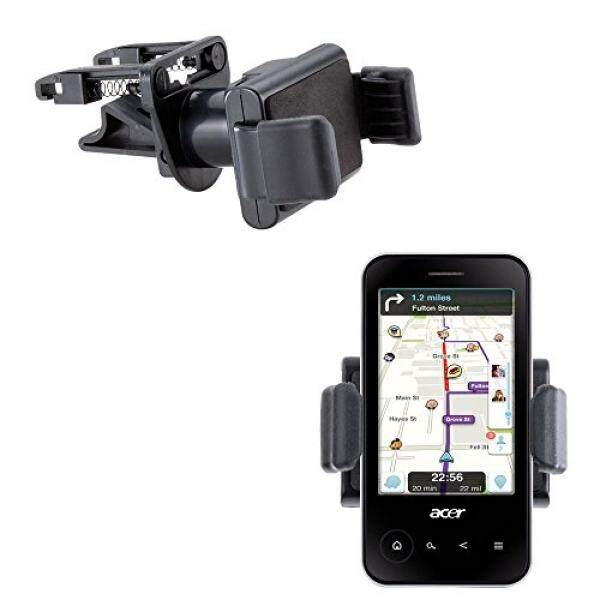 Vent Compact Mini Vehicle Mount Cradle Designed for Acer beTouch E400 - Unique Auto Car Holder Clips into Air Vents - intl