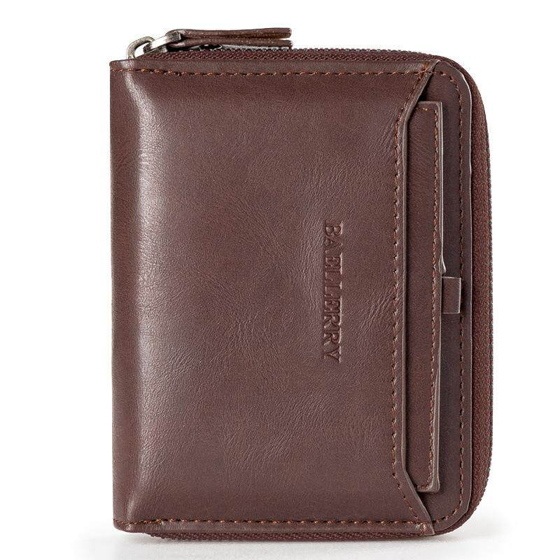 Baellerry High Quality Men Wallets Leather Purse Male Wallet Vintage Zipper  Coin Purses Small Wallet Card d07d9b6bf8
