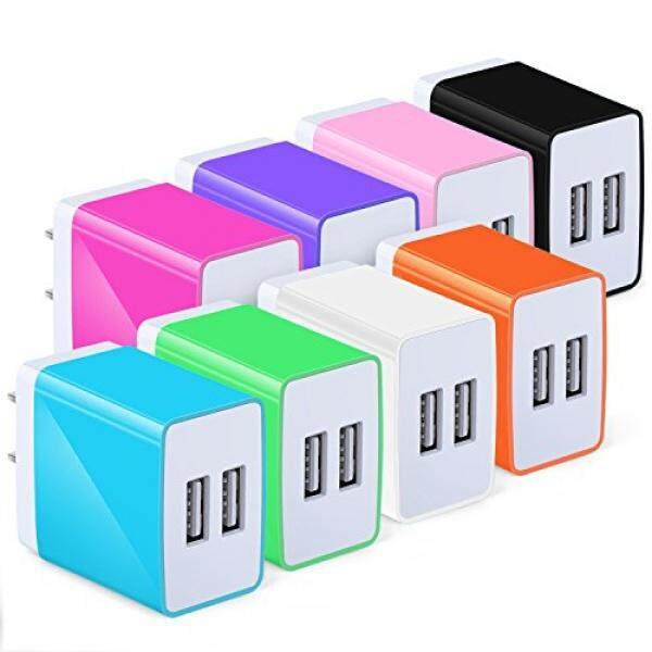 Adaptor USB, Eversame 3.1A Pengisi Daya Rumah Dalam Perjalanan untuk iPhone X/8/7/6 S PLUS iPad Pro/Air 2/Mini 3/Mini 4, IPod Nano, nexus 5X/6 P, Samsung S4/S5/S8/Note 8, Google Pixel XL, blackberry (Paket 8)-Intl