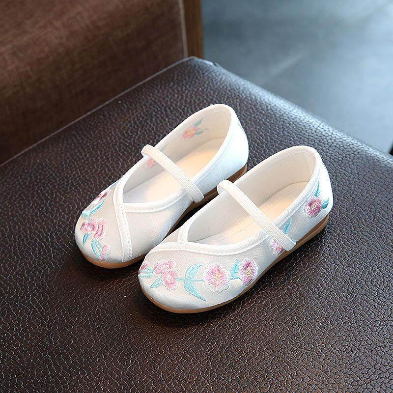 31deb7bb7 Kids Casual Cloth Shoes Sneakers for Toddler Girls Boys with Handmade  Floral Embroidery - intl