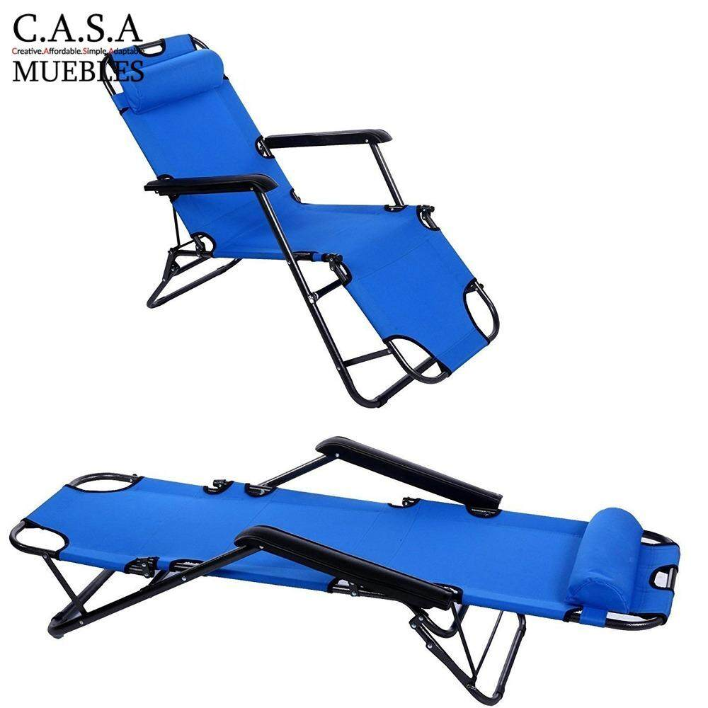 Casa Muebles Chaise Lounge Lazy Chair Blue Lazada # Muebles Relax Exterior