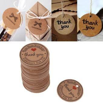 Price Checker 100 Pcs Cokelat Buatan Tangan Gantung Label Pernikahan Kebaikan Hadiah Dessert Label Harga Perhiasan