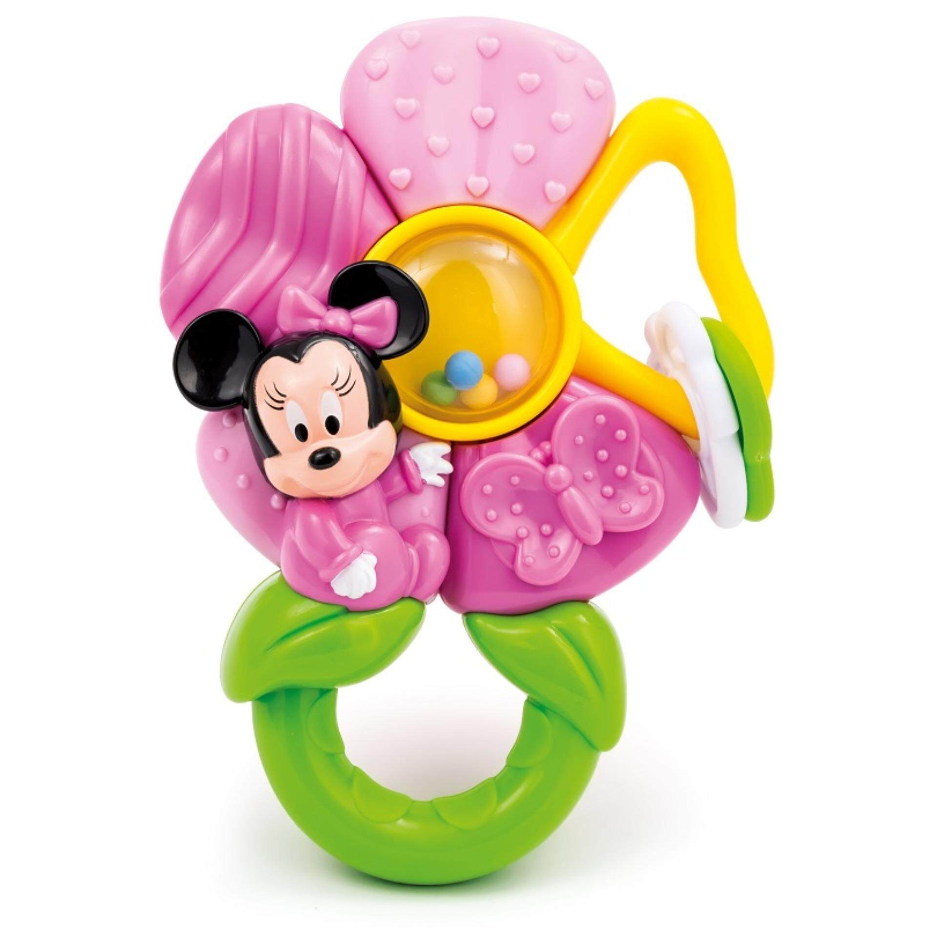Disney Baby Safety Handbells Developmental Lovely Toys Flower Rattle - Minnie baby toys