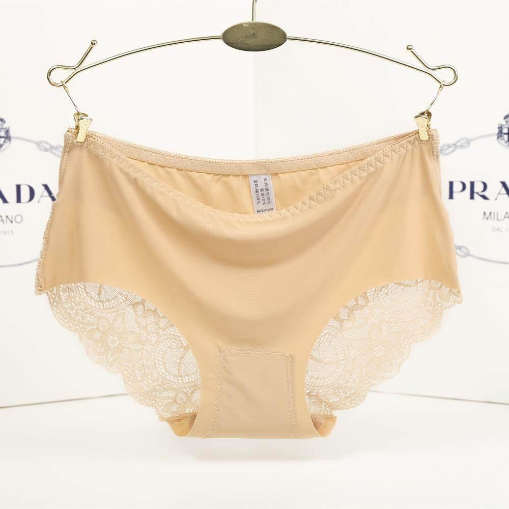 Wanita Seksi Renda Pemangkasan Panties Celana Dalam Celana Wanita Underpant Warna Kulit-Internasional