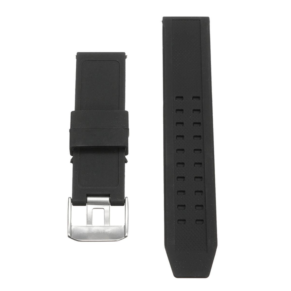 23 Karet Silikon Tali Jam Tangan Hitam Tali Gelang untuk Luminox Penggantian-Intl