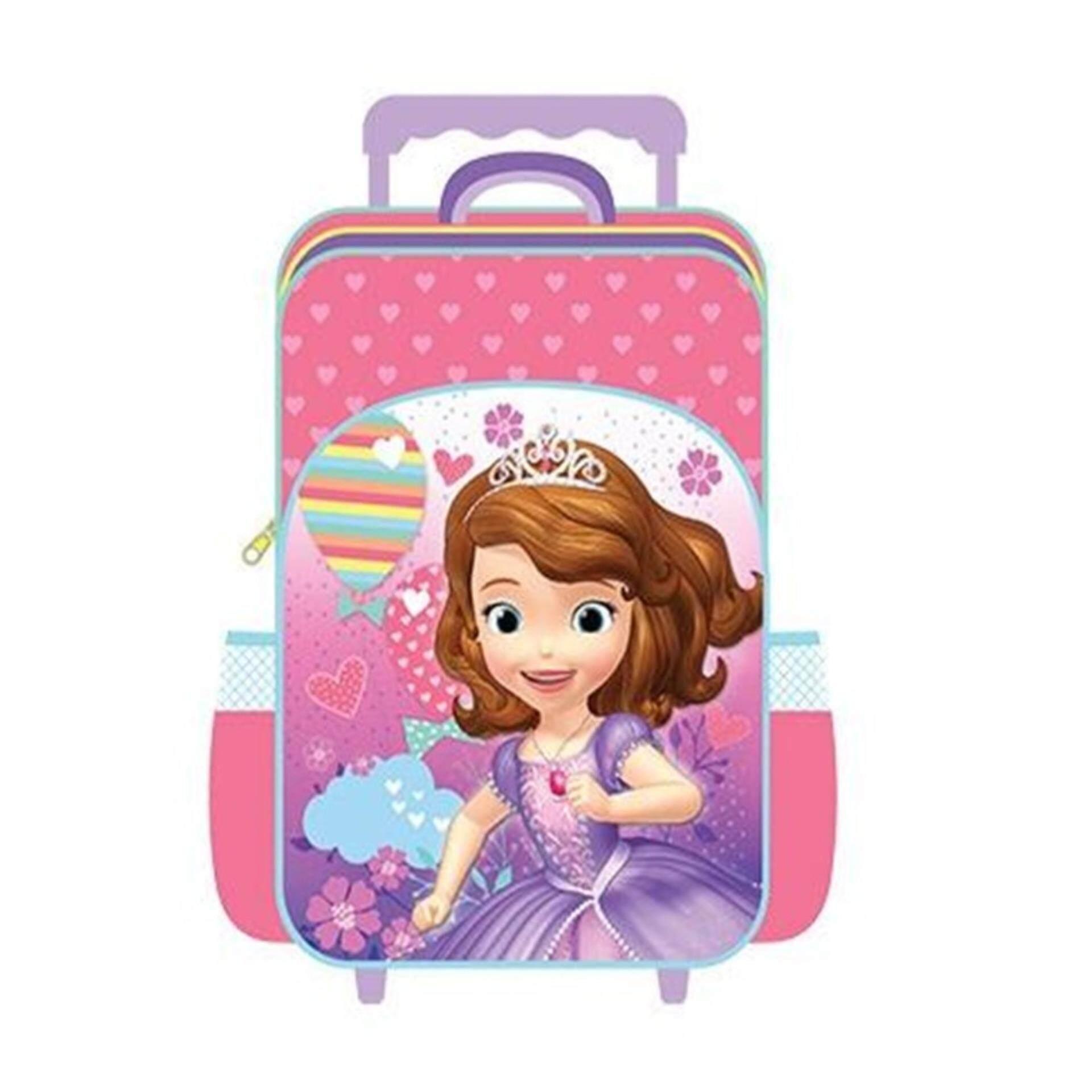 Disney Princess Sofia Primary School Trolley Bag - Pink Colour
