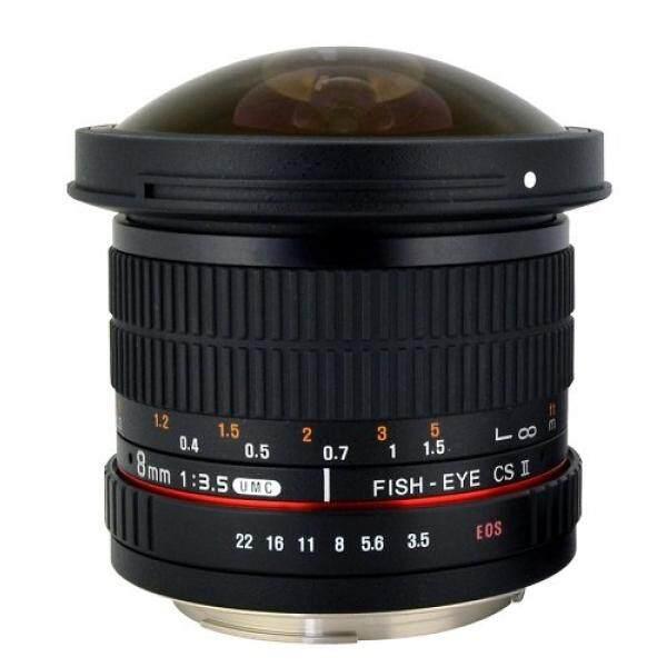 Rokinon HD8M-C 8 Mm F/3.5 HD Fisheye Lensa dengan Tudung Yang Dapat Dilepas untuk Canon DSLR 8-8 Mm, fixed-Zoom Lensa-Internasional