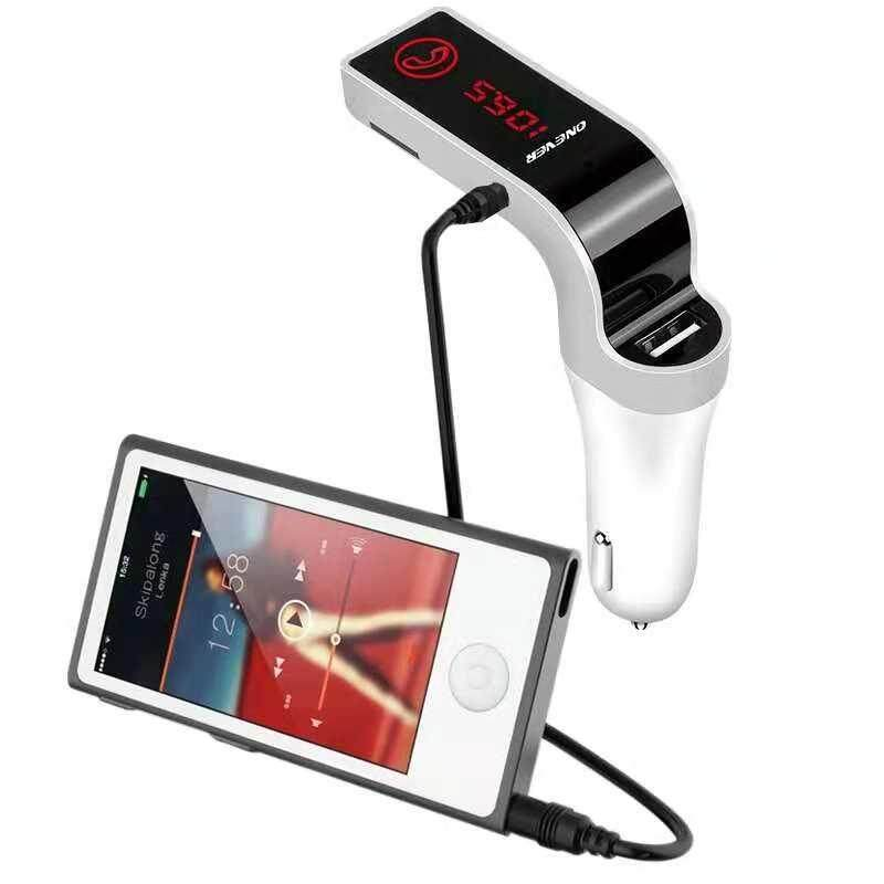 4-in-1 Hands Free Wireless Bluetooth FM Transmitter Hand free Car Kit MP3 Player