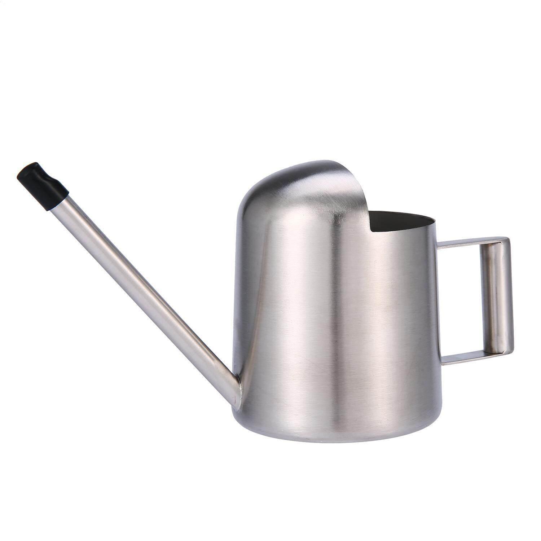 Huohu 300 Ml Anti Karat Mini Penyiraman Alat Berkebun Kecil Panjang Spout Watering Kaleng untuk Ukuran Kecil untuk Meja tanaman Di Kantor atau untuk Anak-anak, perak-Internasional