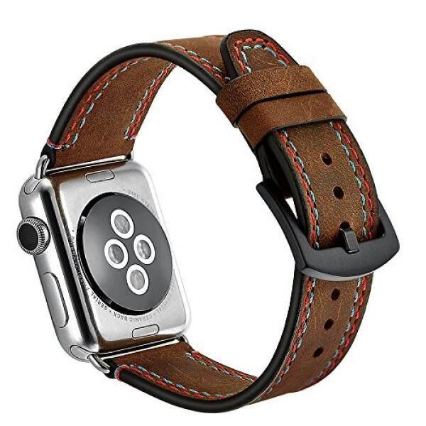 Apple Jam Tangan Tali 38 Mm, cazukoc Crazy Horse Kulit IWatch Tali Penggantian Tali dengan