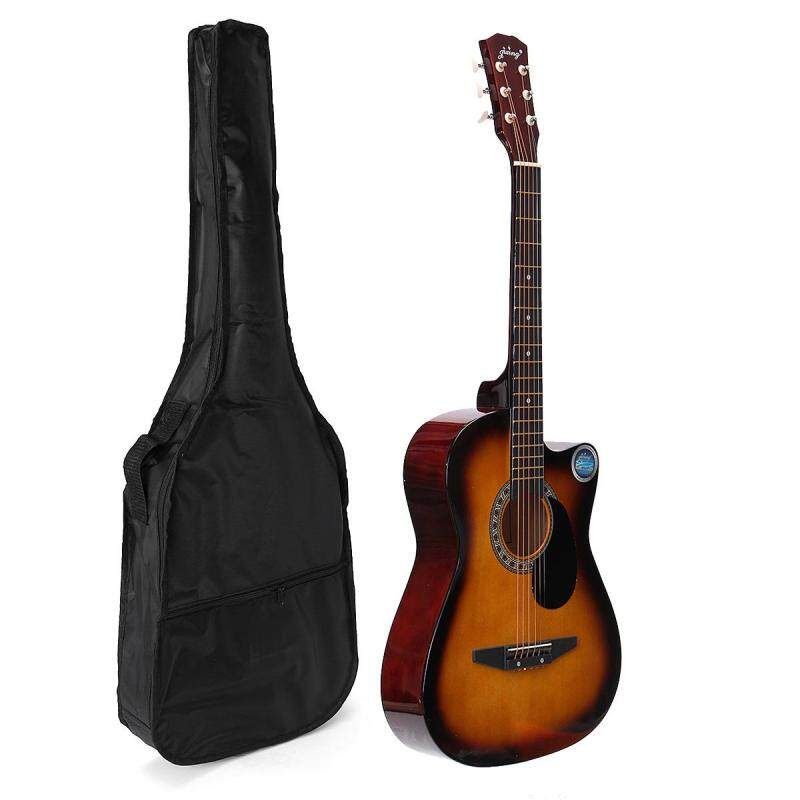 38 Inch Wooden Folk Acoustic Guitarra Electric Bass Fret Guitar Ukulele with Case Bag Malaysia