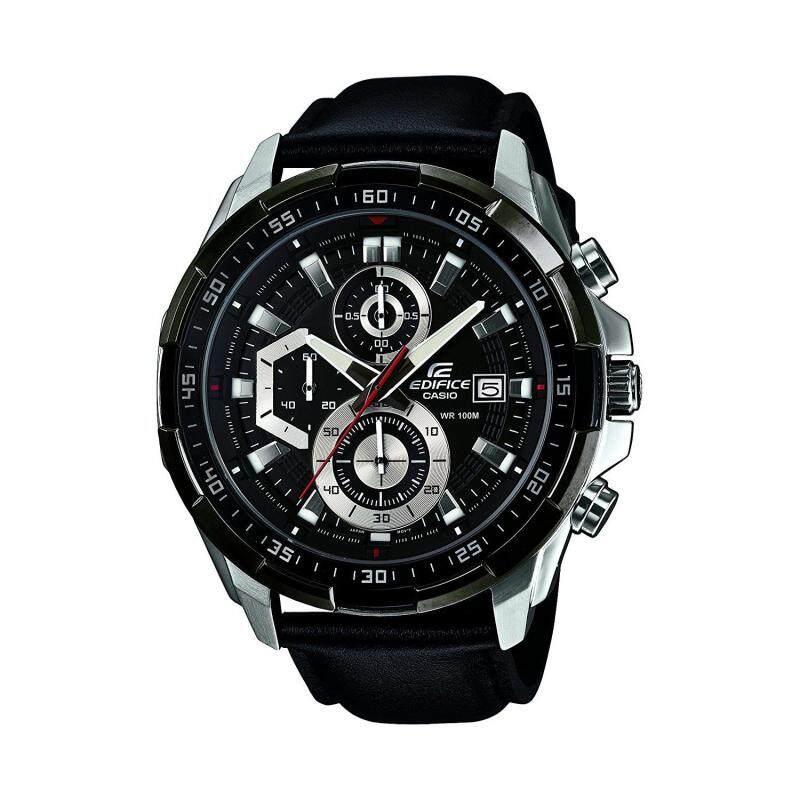 Casio Edifice Chronograph 539 Leather Black Malaysia