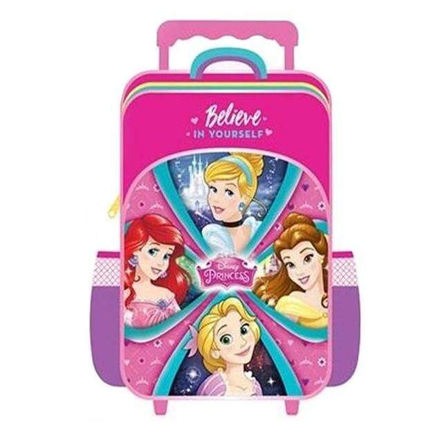 Disney Princess Primary School Trolley Bag - Purple Colour