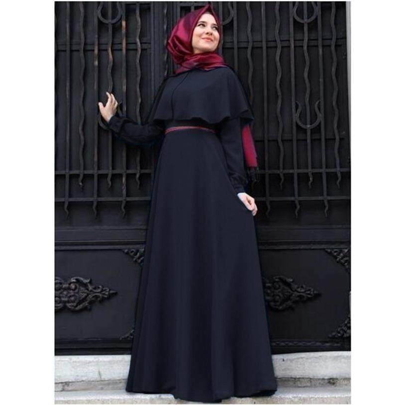 Plus Size Baju Raya Wanita Baju Jubah Muslimah Wear Musllim Women Long Sleeve Dress