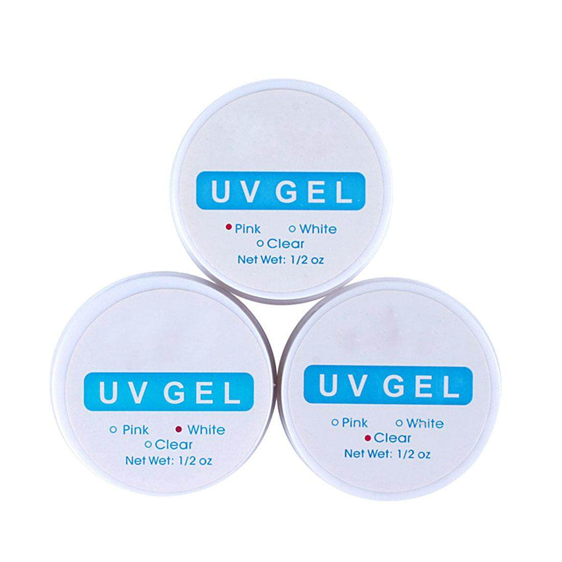 Magnify Your Beauty 2colors Nail Art Primer Top Coat Builder Uv Gel Nail Polish White/clear/pink - Intl By Xingchuang Store.