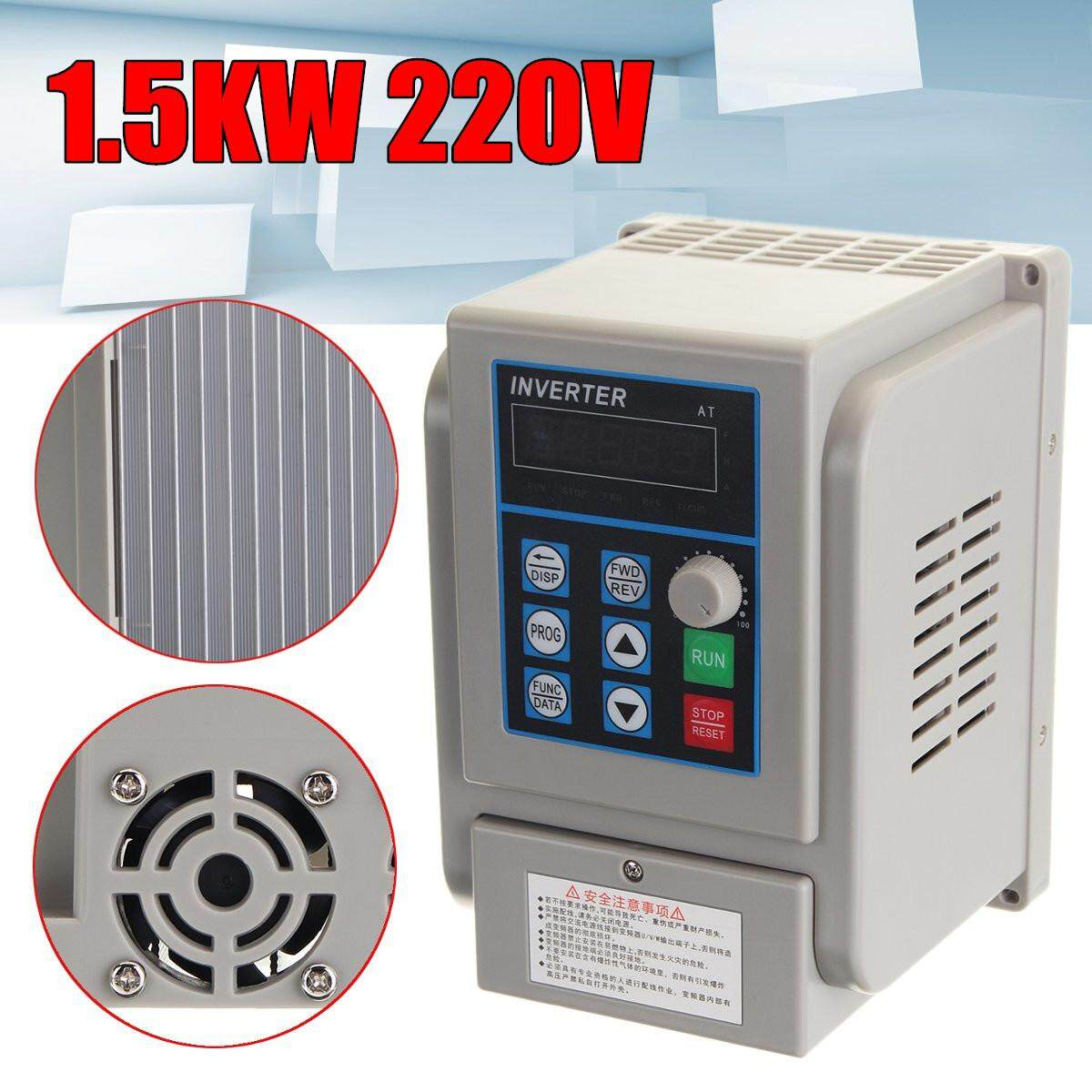 220V 1.5KW 2HP Single To Three Phase Variable Frequency Drive Inverter CNC VFD - intl