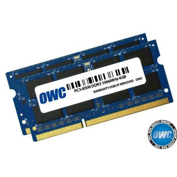 OWC 8.0 GB (2x 4GB) PC8500 DDR3 1066 MHz 204-pin Memory Upgrade Kit For MacBook Pro, MacBook, Mac mini and iMac - intl