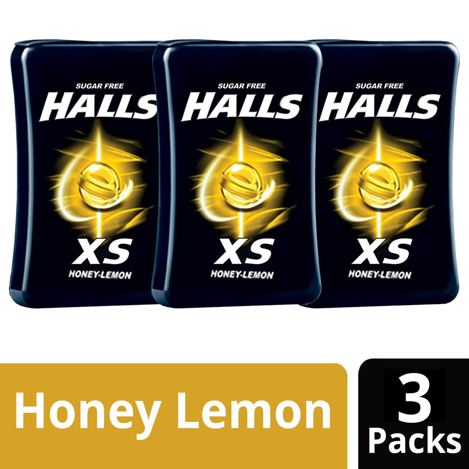 Halls XS Honey Lemon Sugar Free (25s X 3)