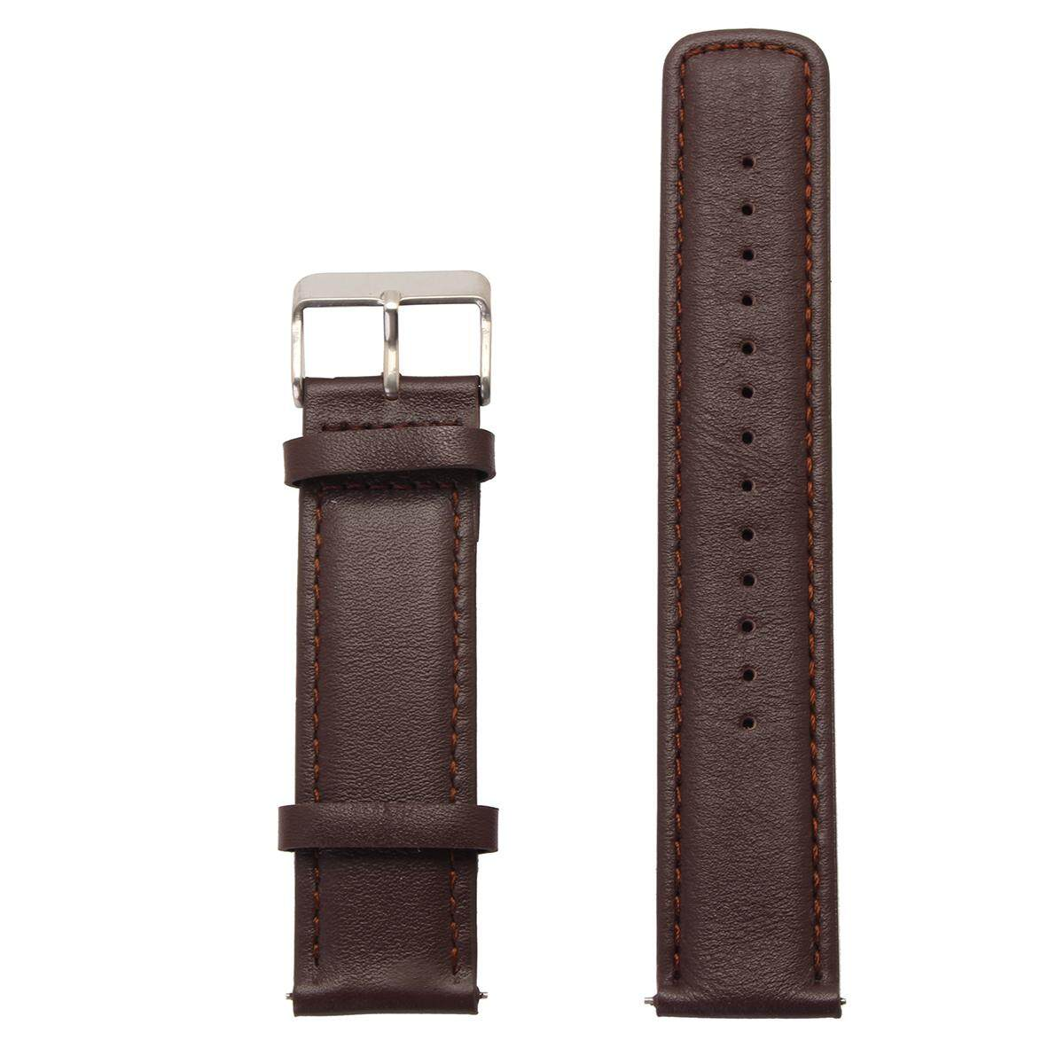 Fitur 22mm Leather Watch Band Strap Bracelet Pebble Time Steel For