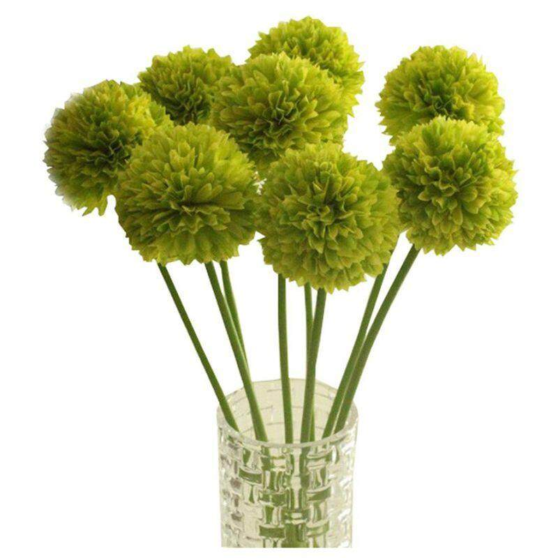 Artificial Flowers, 5 pcs Lavender Ball Artificial Flowers Bouquet Home Wedding Party Decor (Green