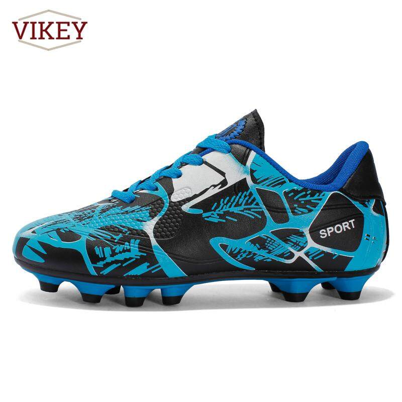 Vikey Men Boy Kids Messi Soccer Football Shoes Outdoor AG Turf Soccer  Cleats Athletic Trainers Sneakers f2214d1573e15