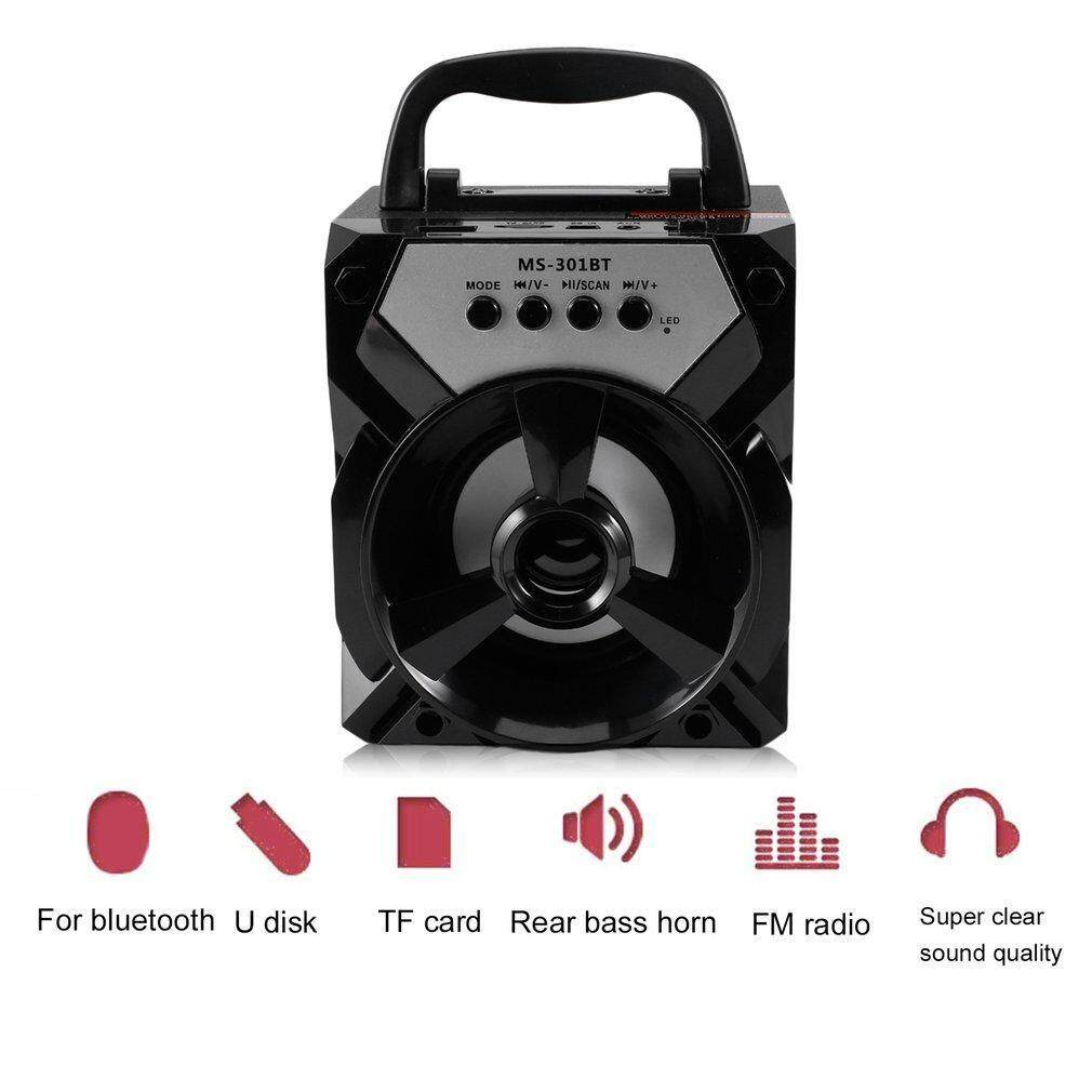 MS-301BT Outdoor Portable Bluetooth Speaker BLACK